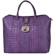 Кожаная женская сумка Bottega Carele BC127-purple фиолетовая