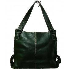 Кожаная женская сумка Bottega Carele BC208-green зеленая