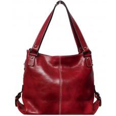 Кожаная женская сумка Bottega Carele BC208-red красная