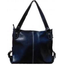 Кожаная женская сумка Bottega Carele BC208-blue синяя