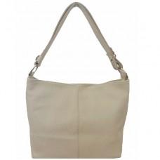 Кожаная женская сумка Bottega Carele BC214-beige бежевая