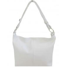 Кожаная женская сумка Bottega Carele BC214-white белая