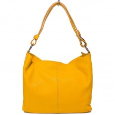 Кожаная женская сумка Bottega Carele BC214-yellow желтая