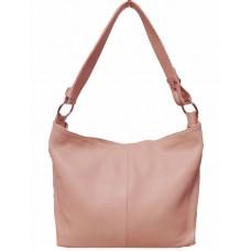 Шкіряна жіноча сумка Bottega Carele BC214-pink рожева