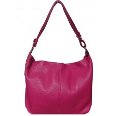 Кожаная женская сумка Bottega Carele BC214-fucsia фуксия