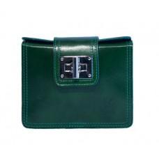 Кожаная женская сумочка Bottega Carele BC310-green зеленая