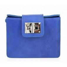 Кожаная женская сумочка Bottega Carele BC310-blue синяя