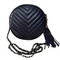 Кожаная сумочка Bottega Carele BC329-dark-blue темно-синяя