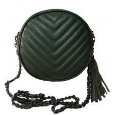 Кожаная сумочка Bottega Carele BC329-green зеленая