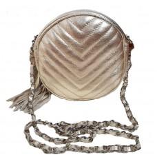 Кожаная сумочка Bottega Carele BC329-gold золотистая