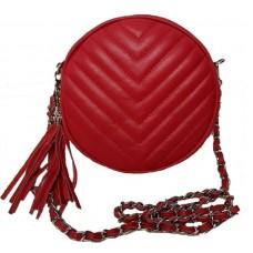 Кожаная сумочка Bottega Carele BC329-red красная