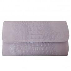 Кожаная женская сумка- клатч Bottega Carele BC504-pink розовая