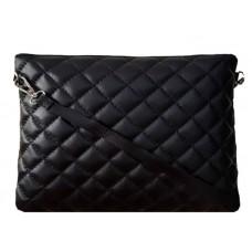 Кожаный клатч Bottega Carele BC513-black черный