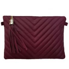 Кожаный клатч Bottega Carele BC514-bordo бордовый