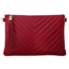 Кожаный клатч Bottega Carele BC514-red красный