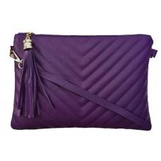 Кожаный клатч Bottega Carele BC514-purple фиолетовый