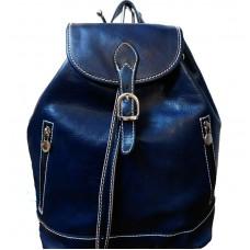 Кожаный рюкзак Bottega Carele BC701-blue синий