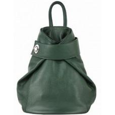 Кожаный рюкзак Bottega Carele BC709-green зеленый