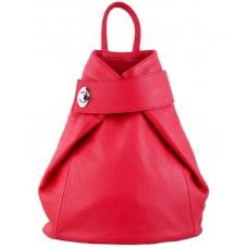 Кожаный рюкзак Bottega Carele BC709-cherry красный