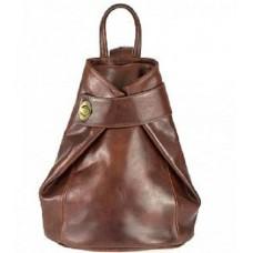 Кожаный женский рюкзак Bottega Carele BC7092-brown коричневый
