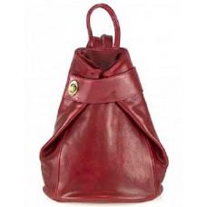 Кожаный женский рюкзак Bottega Carele BC7092-red красный