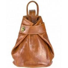 Кожаный женский рюкзак Bottega Carele BC7092-ginger рыжий