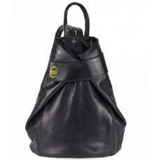 Кожаный женский рюкзак Bottega Carele BC7092-black черный