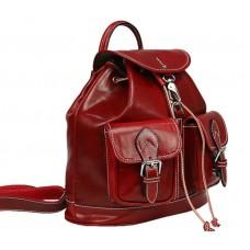 Шкіряний рюкзак Bottega Carele BC715-red червоний