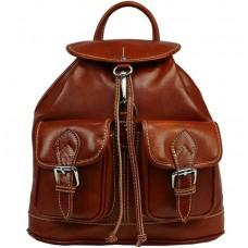 Кожаный рюкзак Bottega Carele BC715-ginger рыжий