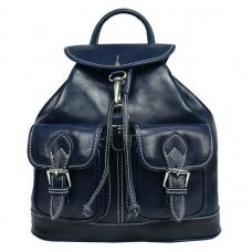 Кожаный рюкзак Bottega Carele BC715-blue cиний