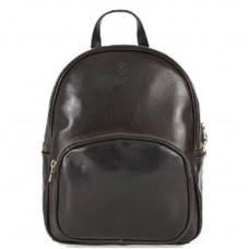 Шкіряний рюкзак Bottega Carele BC718-dark-brown темно-коричневий