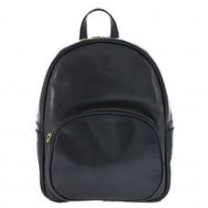 Кожаный рюкзак Bottega Carele BC718-black черный