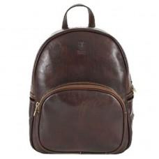 Кожаный рюкзак Bottega Carele BC718-brown коричневый