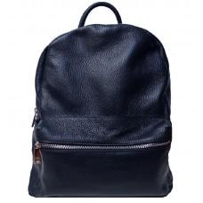 Кожаный рюкзак Bottega Carele BC719-dark-blue темно-синий
