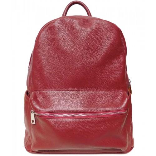 Кожаный рюкзак Bottega Carele BC719-red красный