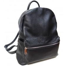 Шкіряний рюкзак Bottega Carele BC719-black чорний