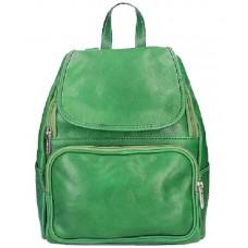Кожаный рюкзак Bottega Carele BC722-green зеленый