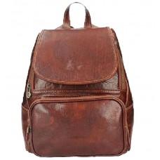 Кожаный рюкзак Bottega Carele BC722-brown коричневый