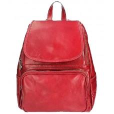 Кожаный рюкзак Bottega Carele BC722-red красный