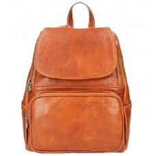 Кожаный рюкзак Bottega Carele BC722-ginger рыжий