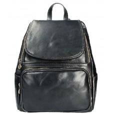 Кожаный рюкзак Bottega Carele BC722-black черный