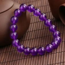 Браслет з натурального каменю Темно-фіолетовий Кварц