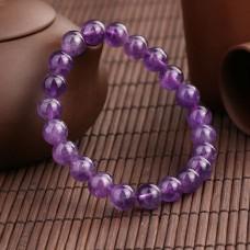 Браслет из натурального камня Аметист фиолетовый