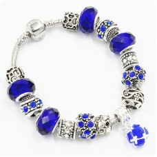 Браслет Pandora Drum синий