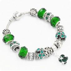 Браслет Pandora Drum зеленый