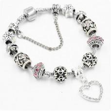 Браслет Pandora Love Snow розовый