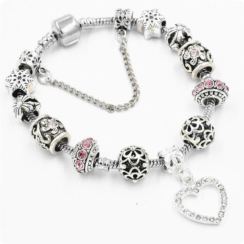браслет Pandora Love Snow розовый покупайте недорого в киеве