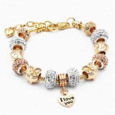 Браслет Pandora Owl золотой