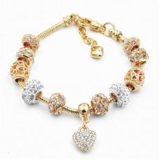 Браслет Pandora Heart Shine золотой