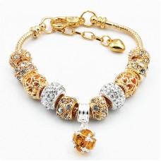 Браслет Pandora Crystal золотой